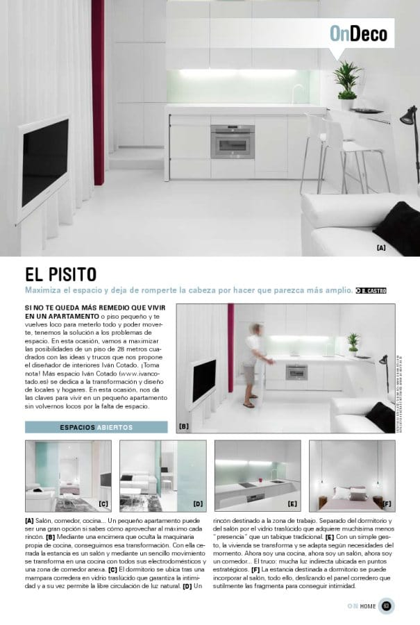 El pisito de ivan cotado dise o de interiores en on for Grado diseno de interiores madrid