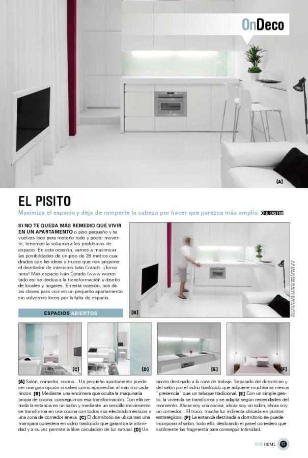 """""""El pisito"""" de Ivan Cotado Diseño de Interiores en On Madrid, de El País (Madrid)"""