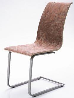 """Nuevos materiales constructivos. Evolución y aplicaciones. Silla """"de piedra"""". Panel de Richter Furniertechnik."""