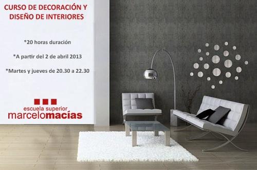 Curso de Decoración y Diseño de Interiores