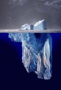 Solo una octava parte de un iceberg se ve en superficie.