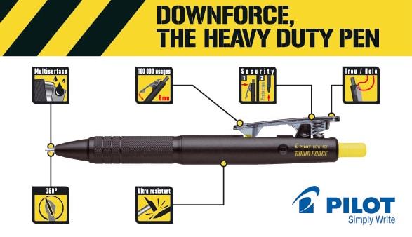 Pilot Down Force, un bolígrafo para interioristas y arquitectos