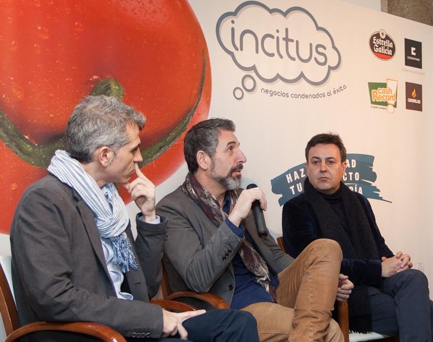 Presentación de Incitus con Pepe Solla y José Ribagorda