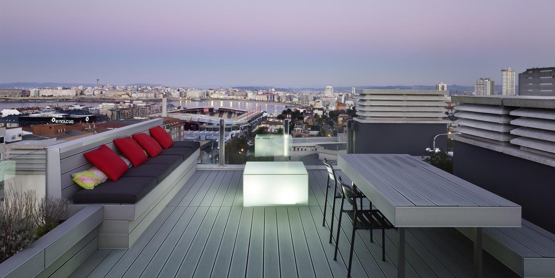 Tico con terraza vivienda en a coru a ivan cotado - Diseno de terraza ...