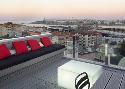 Ático con terraza. Vivienda en A Coruña
