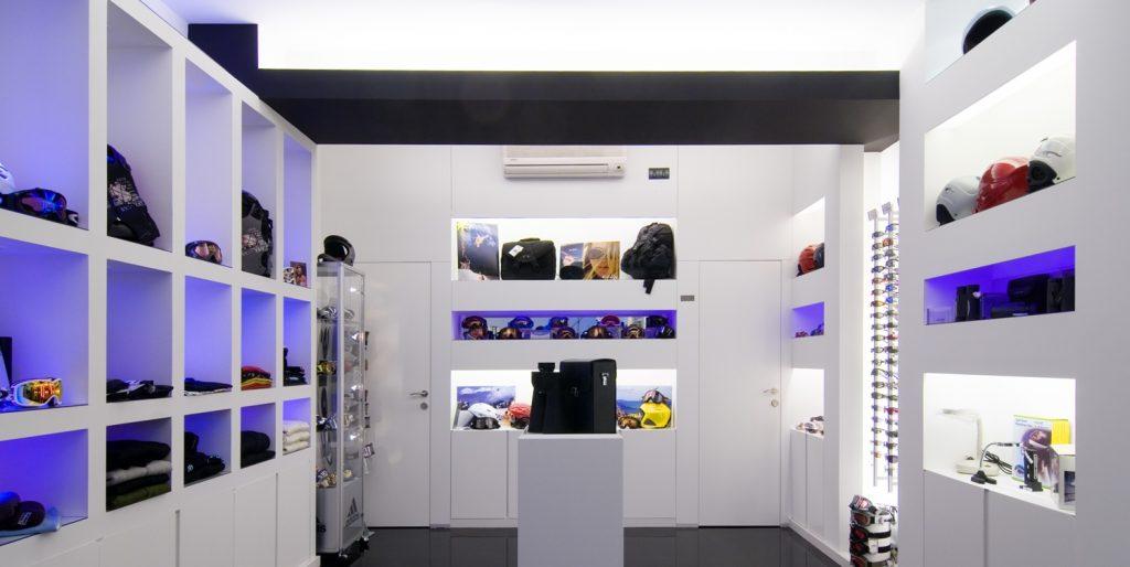 Diseño tienda de complementos en Ponferrada. Vista de exposición