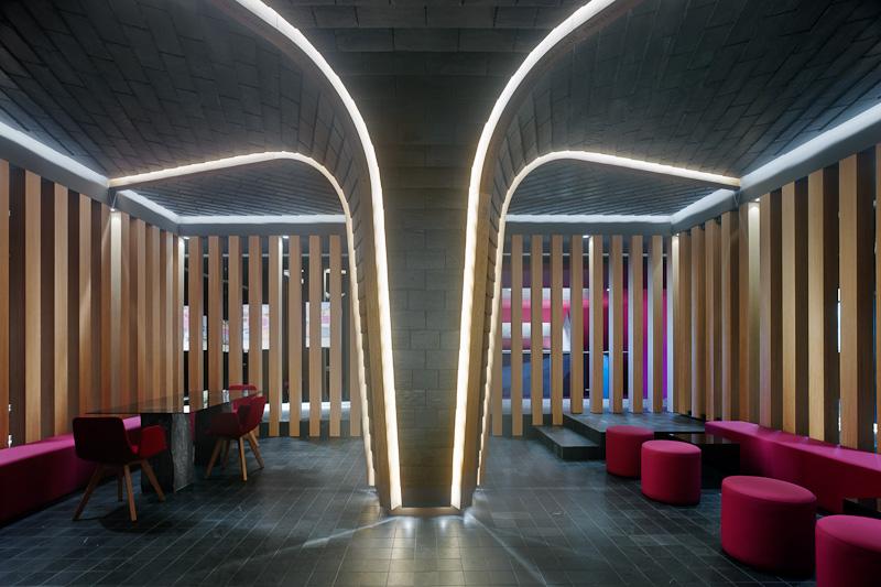 Vista interior INteriorismo EStratégico Showroom Cupa Pizarras