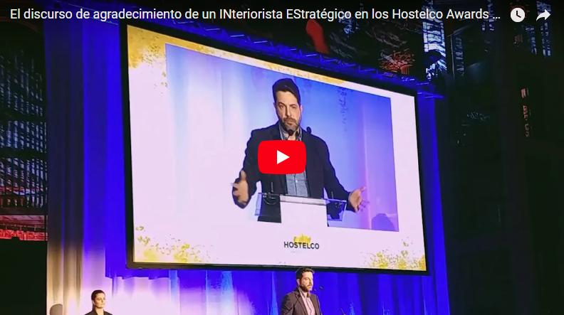 El discurso de agradecimiento de Iván en los Hostelco Awards: 'No somos floreros, somos su mejor inversión'