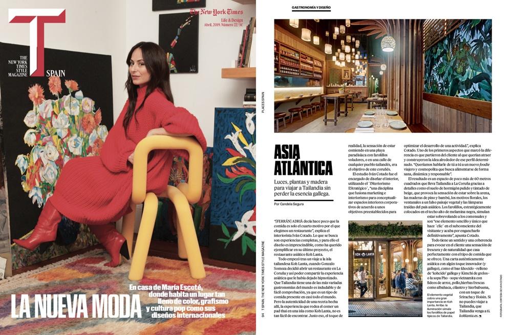 Koh Lanta en T Magazine, del New York Times
