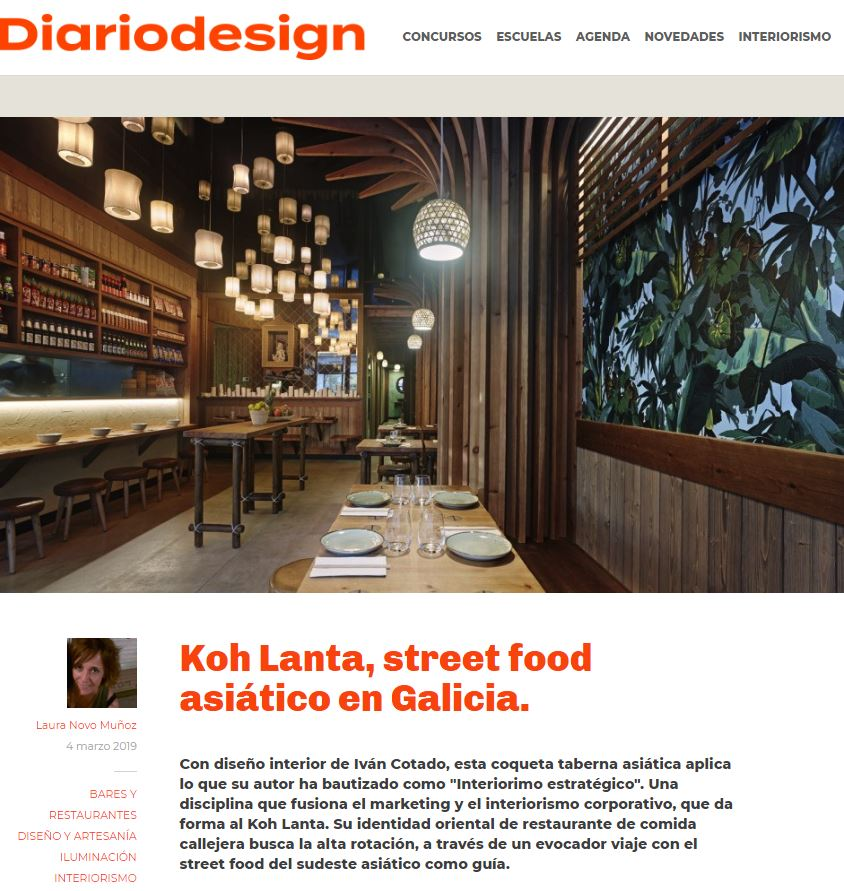 Restaurante Koh Lanta en Diario Design