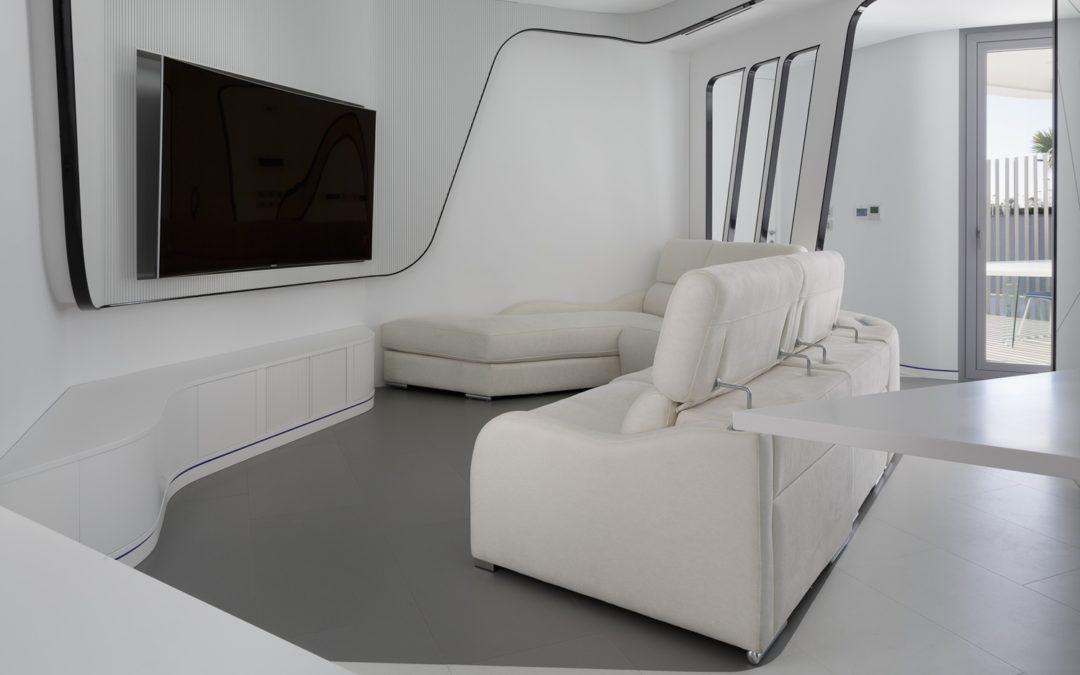 Diseño interior vivienda futurista en Elche