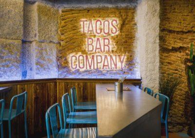 Diseño restaurante mexicano Tabaxco