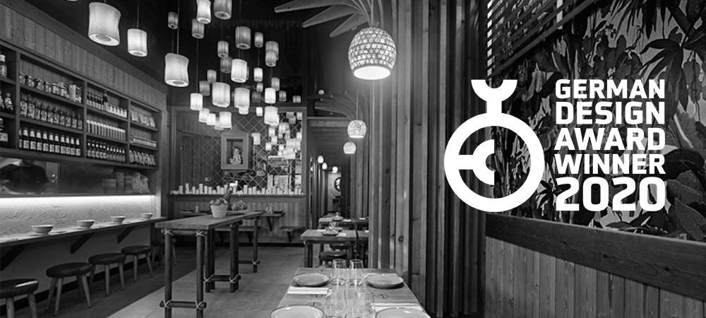 Iván Cotado recibe el German Design Award 2020 por el restaurante Koh Lanta